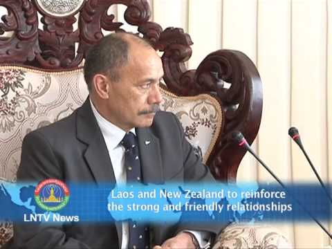 Lao NEWS on LNTV-Laos &New Zealand to reinforce the strong and friendly relationships. 13/8/2013