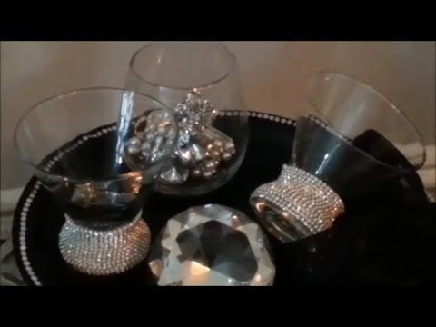 Z Gallerie Style Diamond Wrap DIY| Better Than Any Store Bought Bling Wrap!
