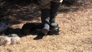 Removing Stocking-foot Fly Fishing Waders With The Stay Clean Boot Puller And Boot Hanger