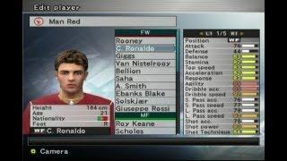 PES 5 (Winning Eleven 9) Messi, Ronaldo, Ronaldinho Stats (PES Memories)