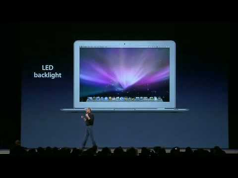 Macworld San Francisco 2008-The MacBook Air Intro (Pt. 1)