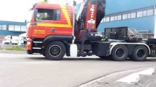 Specialtransport units. DAF CF en MAN TGA. van Houten Transport - Deel 1.