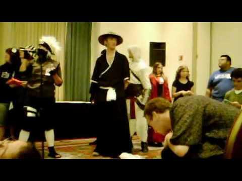 Karaoke Kakashi Cosplayer singing Divinyls song