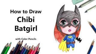 How to Draw Wonder Woman Cute Bat Girls step by step