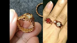 How to make prong ring with faceted stone - Handmade Jewelry Tutorials 247