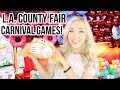 Playing Carnival Games at the L.A. County Fair!