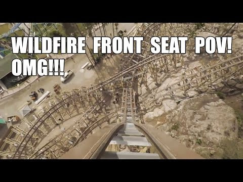INSANE! Wildfire Roller Coaster Front Seat *REAL* POV Kolmarden Zoo Sweden