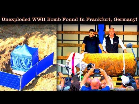 Frankfurt, Germany: Live WWII Bomb Found On Abrams Bldg. Ksrn. By Eagle High School!