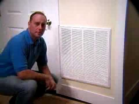 New Return Air Grille Filter Youtube