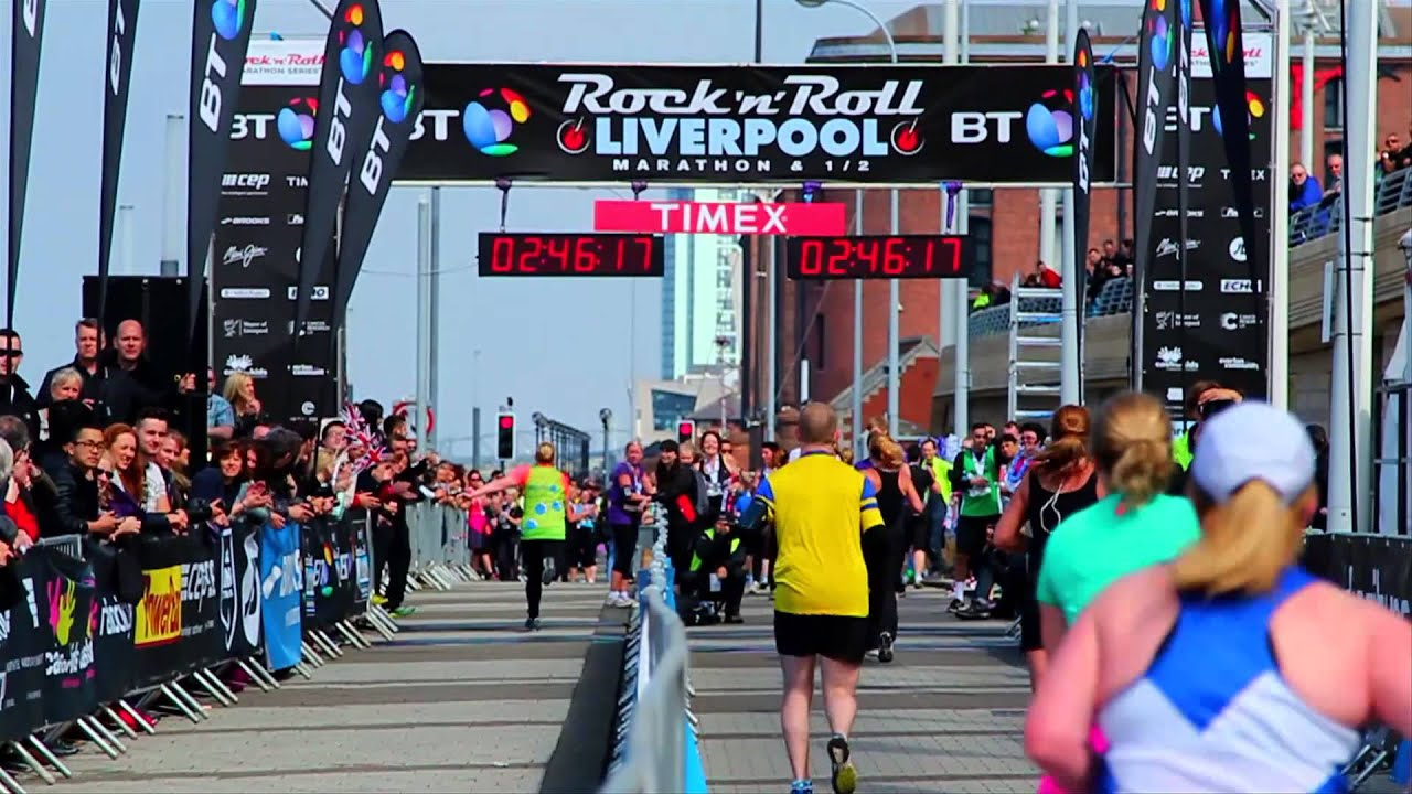 2014 rock 39 n 39 roll liverpool marathon and half marathon highlights youtube. Black Bedroom Furniture Sets. Home Design Ideas