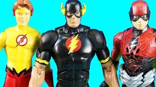 Batman Builds Superhero Obstacle Course   Older Brother Flash And Kid Flash Stop Drill Man