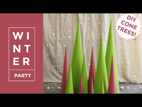 DIY Paper Cone Trees | Giant Cone Trees
