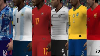PES ASIA 2020/2021 PPSSPP UPDATE KITS NATIONAL TEAM