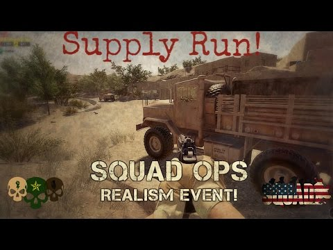 Supply Run Trucker POV - Squad Ops Official Single Life Event (OP: Crazy Horse)