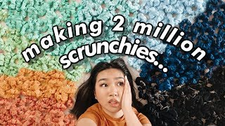 making 2 million scrunchies for 2 million subscribers...(im ded) | JENerationDIY