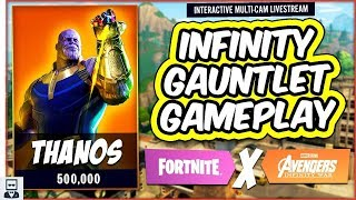 THANOS SKIN & MARVEL AVENGERS INFINITY WAR EVENT LTM INFINITY GAUNTLET - Fortnite: Battle Royale