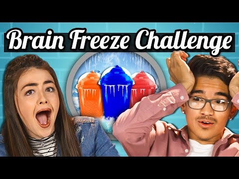 Thumbnail: TEENS vs. SLURPEE BRAIN FREEZE CHALLENGE! | TEENS vs. FOOD