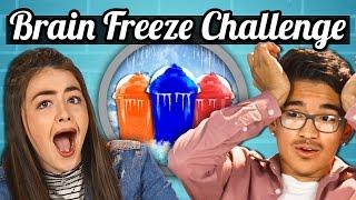 TEENS vs. SLURPEE BRAIN FREEZE CHALLENGE!   TEENS vs. FOOD
