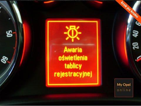 Jak Wymienić żarówkę Opel Astra Iv Tablica Rejestracyjna Code 24