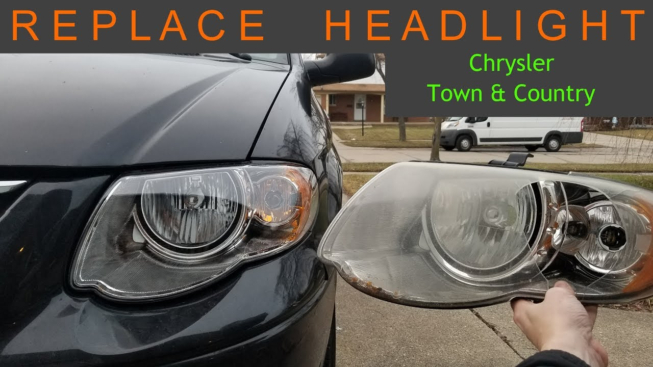Replace Headlight Chrysler Town Country Dodge Caravan