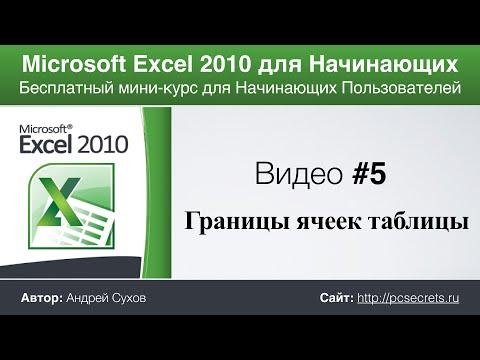 Уроки Microsoft Excel для начинающих