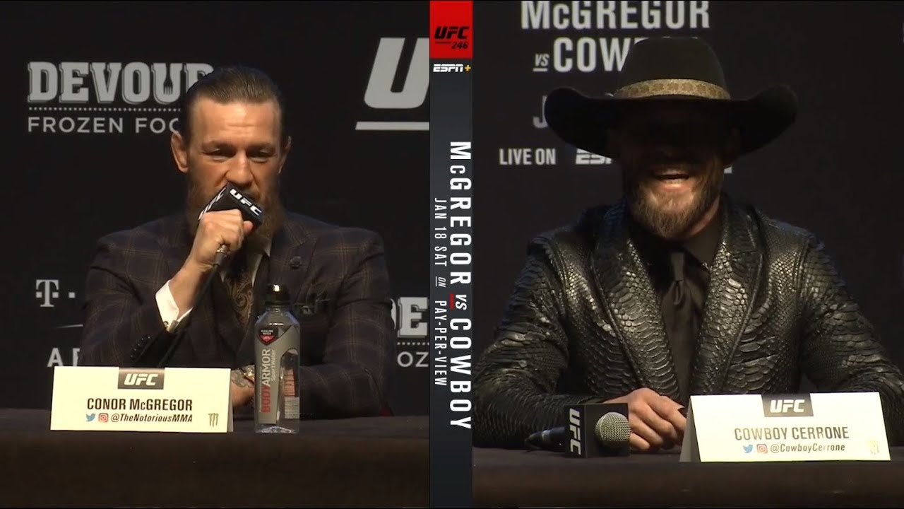 Ufc 246 Pre Fight Press Conference Highlights