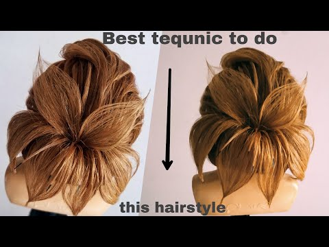 latest flawer Hairstyle/new modern updo 2018/western Hairstyle tutorial/updo hairstyles/modern bun