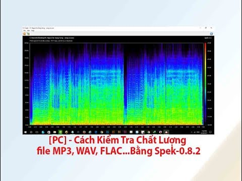 [PC] – Cách Kiểm Tra Chất Lượng file MP3, WAV, FLAC, lossless…Bằng Spek-0.8.2