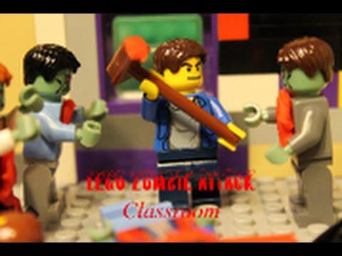 LEGO ZOMBIE ATTACK Classroom - YouTube