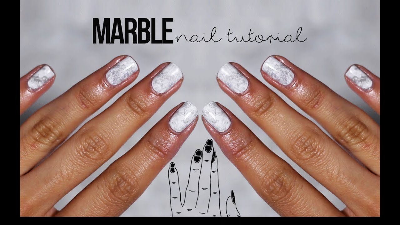 TUTORIAL | MARBLE NAILS | itslinamar - YouTube