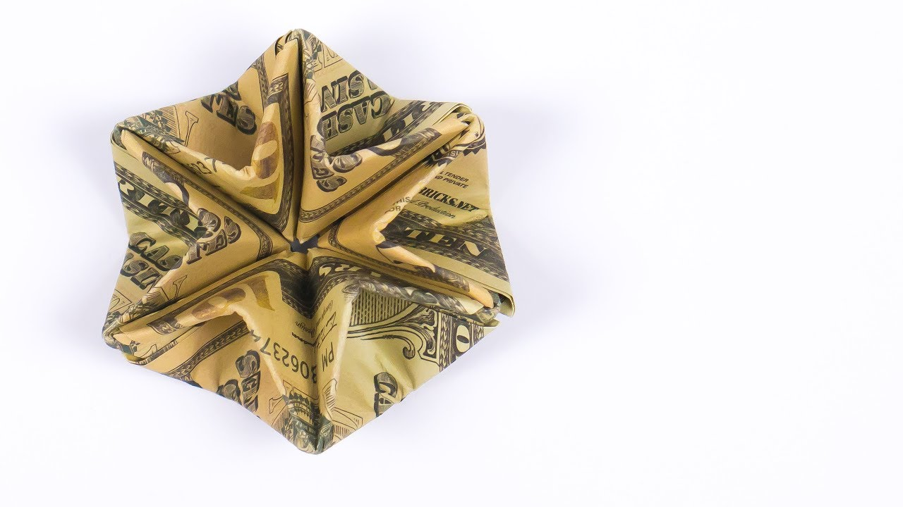 XMAS Money Origami STAR - DIY Christmas Money Gift Ideas - YouTube