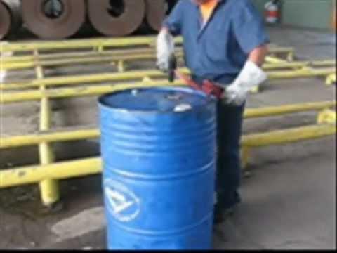 Sistema para abrir tambores de lata de forma segura kaizen