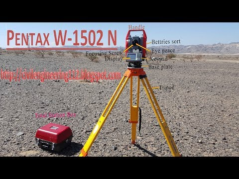 Total station Pentax w 1502 n setup