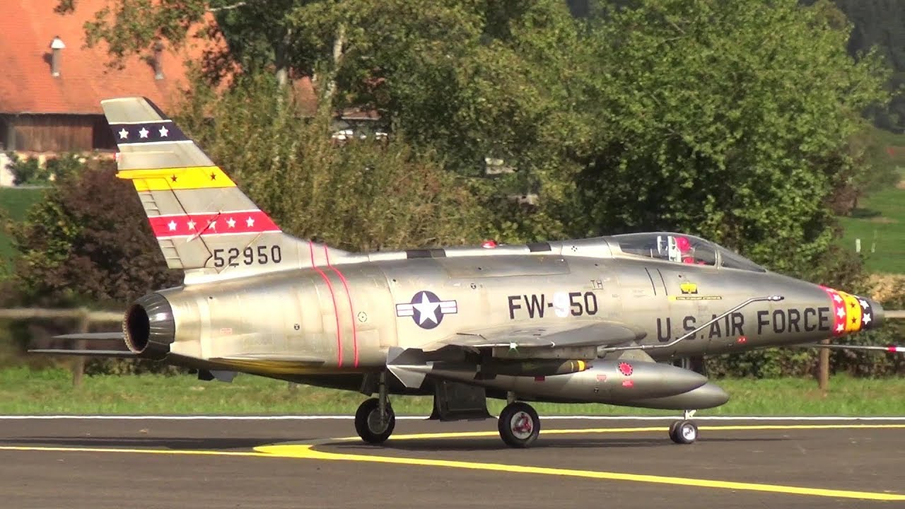 U.S AIR FORCE F-100D and F-104 STARFIGHTER GERMAN AIR FORCE SCALE TURBINE RC JETS
