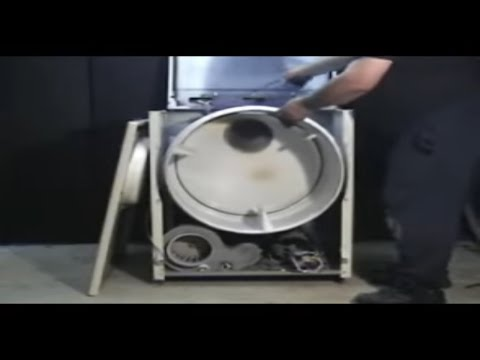 Older belt Maytag dryer on