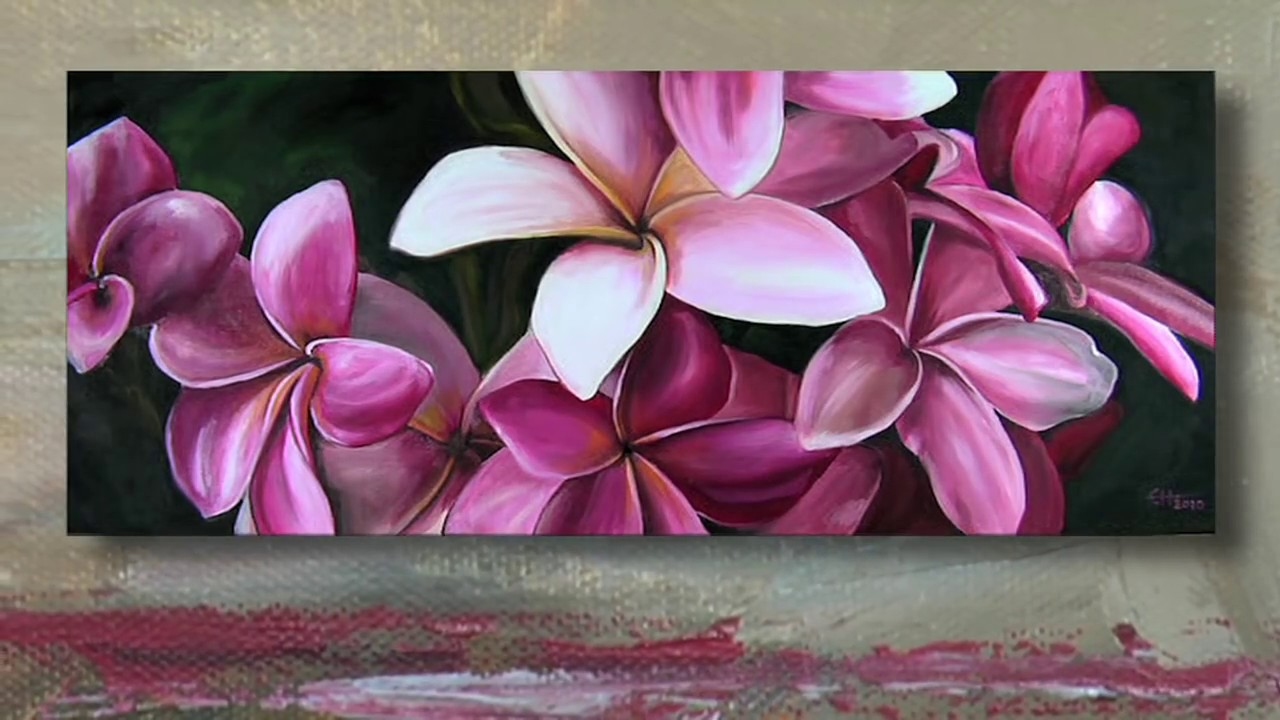 Painting pink plumeria flowers time lapse youtube painting pink plumeria flowers time lapse mightylinksfo