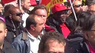 Philippe Martinez, Olivier Besancenot à la manifestation du 12 septembre 2017 contre la Loi Travail