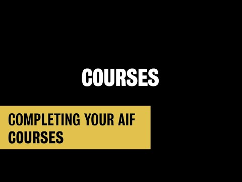 Completing Your Waterloo AIF: Courses
