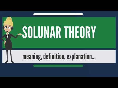 What Is SOLUNAR THEORY? What Does SOLUNAR THEORY Mean? SOLUNAR THEORY Meaning & Explanation