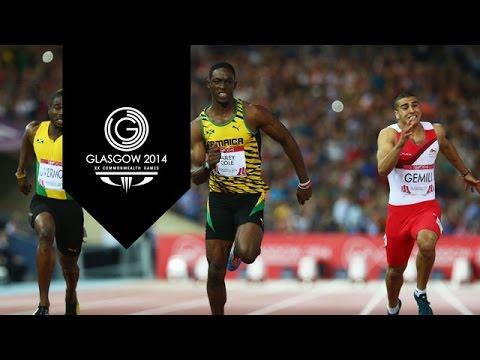100m Finals -  Day 5 Highlights Part 8   Glasgow 2014