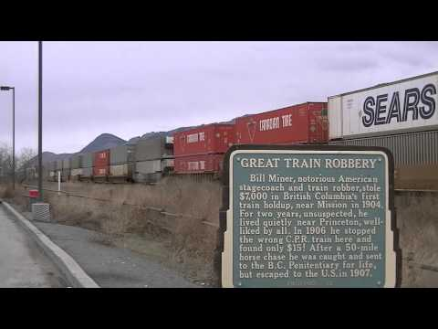3-31-12 -Great Train Robbery- [CP] 8790 Leads A Intermodal Train East At Kamloops (Read Info)
