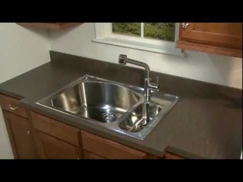 Standard Size Kitchen Sink Marble Top Island American Install Youtube