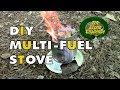 DIY Multi-Fuel Backpacking Stove featuring the Wood Pellet Hobo Stove