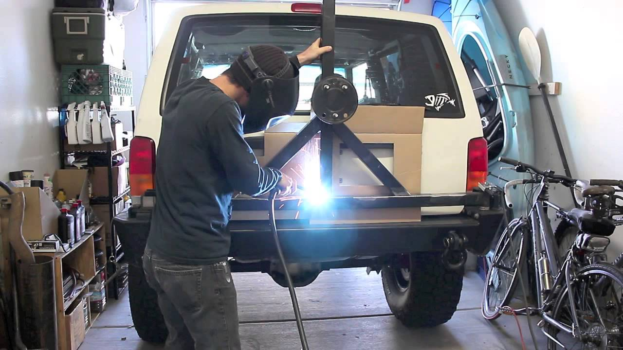 Jeep Xj Ideas >> XJ Spare Tire Carrier Relocation and Welding - YouTube