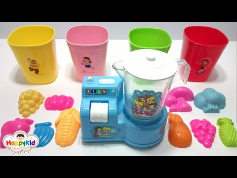 Learn Colors | Color Crew | Vegetable And Fruit Toys | เรียนรู้สีภาษาอังกฤษ | เครื่องปั่นของเล่น