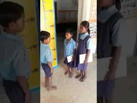 Slum area Students of government schools