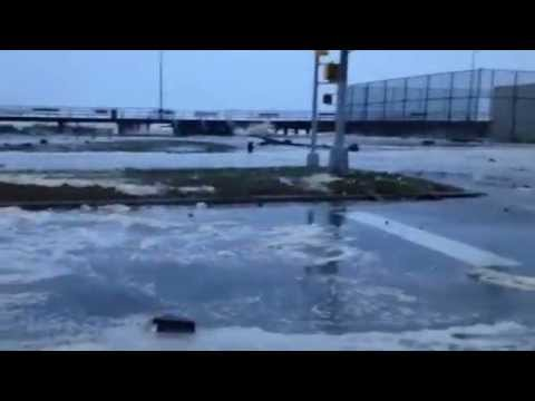 Hurricane Sandy Makes Landfall - Rockaway Beach,NY - As Seen on LiveStream -iReporter Donald DAvanzo