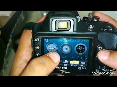 How to change Aperture and iso and shutter speed in nikon dslr
