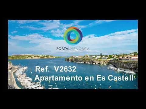 Piso con vistas al mar en Calesfonts, Es Castell.