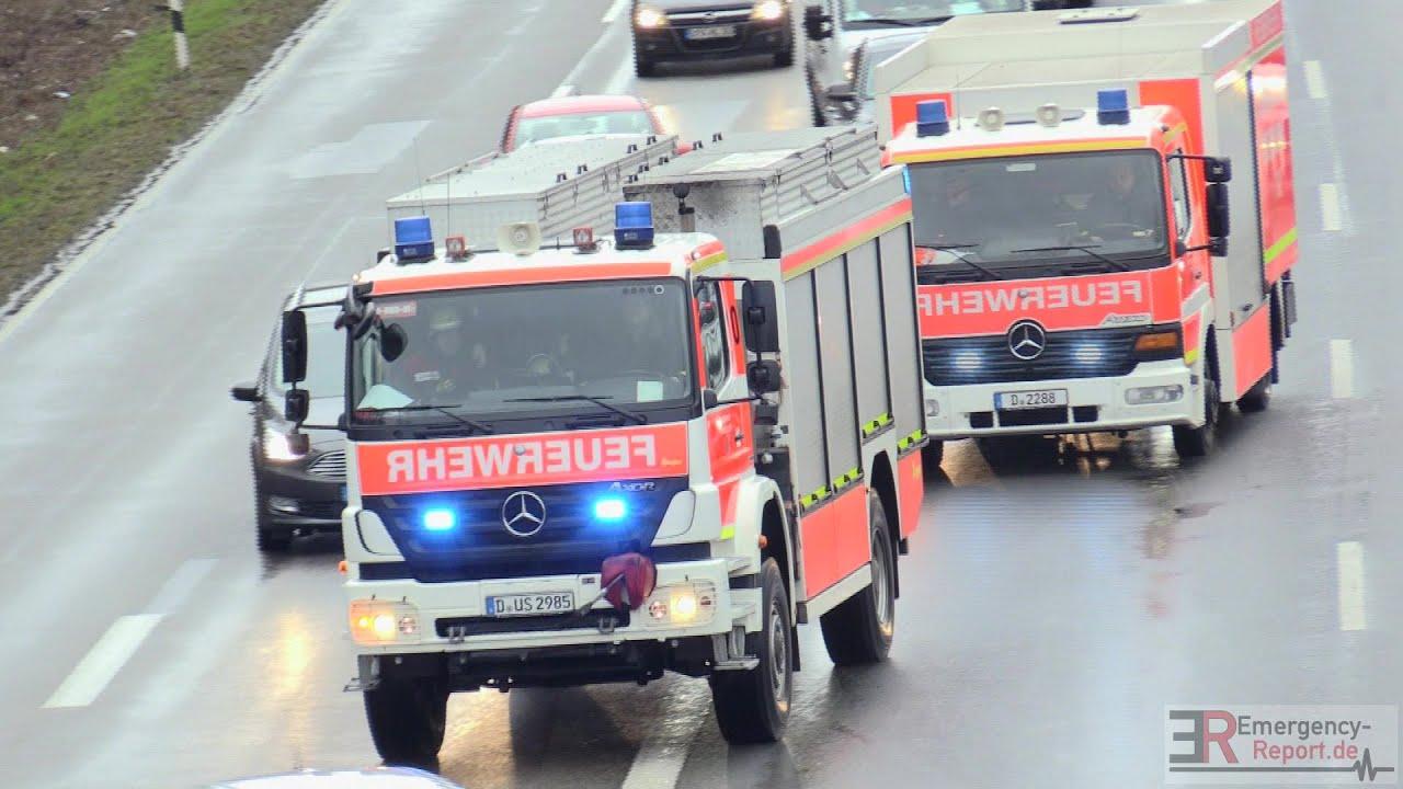 Einsatzfahrten feuerwehr d sseldorf schwerer for Reihengarderobenstander gebraucht